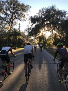 Loblolly Cycling Team On A Ride through St Andrews Florida