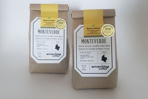 Reserve coffee subscription includes rare micro-lots like this Colombia Wush Wush from Monteverde.