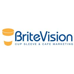 Brite Vision, sustainable brand for coffee cup sleeve and cafe marketing