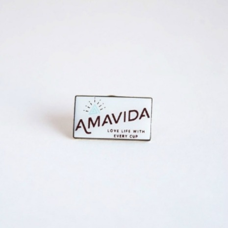Custom Pin, Coffee Lapel Pin | Amavida Coffee Roasters