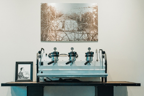 beautiful la marzocco espresso machine