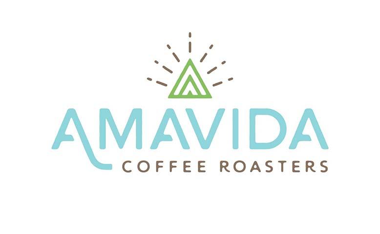Amavida Coffee Roasters New Logo designed by Kevin Tudball