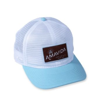 "Amavida Coffee Roasters Custom ""Love Life"" Trucker Hat"