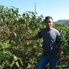 Melvin Alonzo at his organic coffee farm in Honduras, Finca Californeo