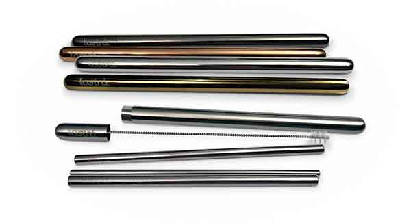 Reusable Straw Set with Case by Lastrå