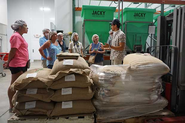 Coffee Roaster Tour group in Florida with Director of Coffee, Martin Trejo.