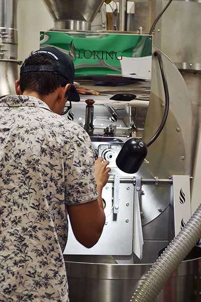 See coffee roasted on a Loring at Amavida Coffee in Florida.